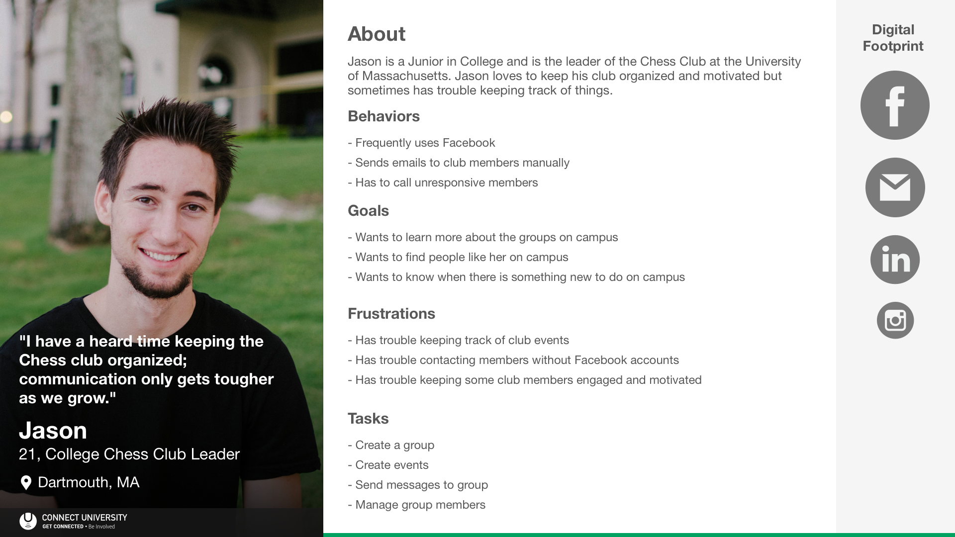 Connect University Persona - College Club Leader (Jason)