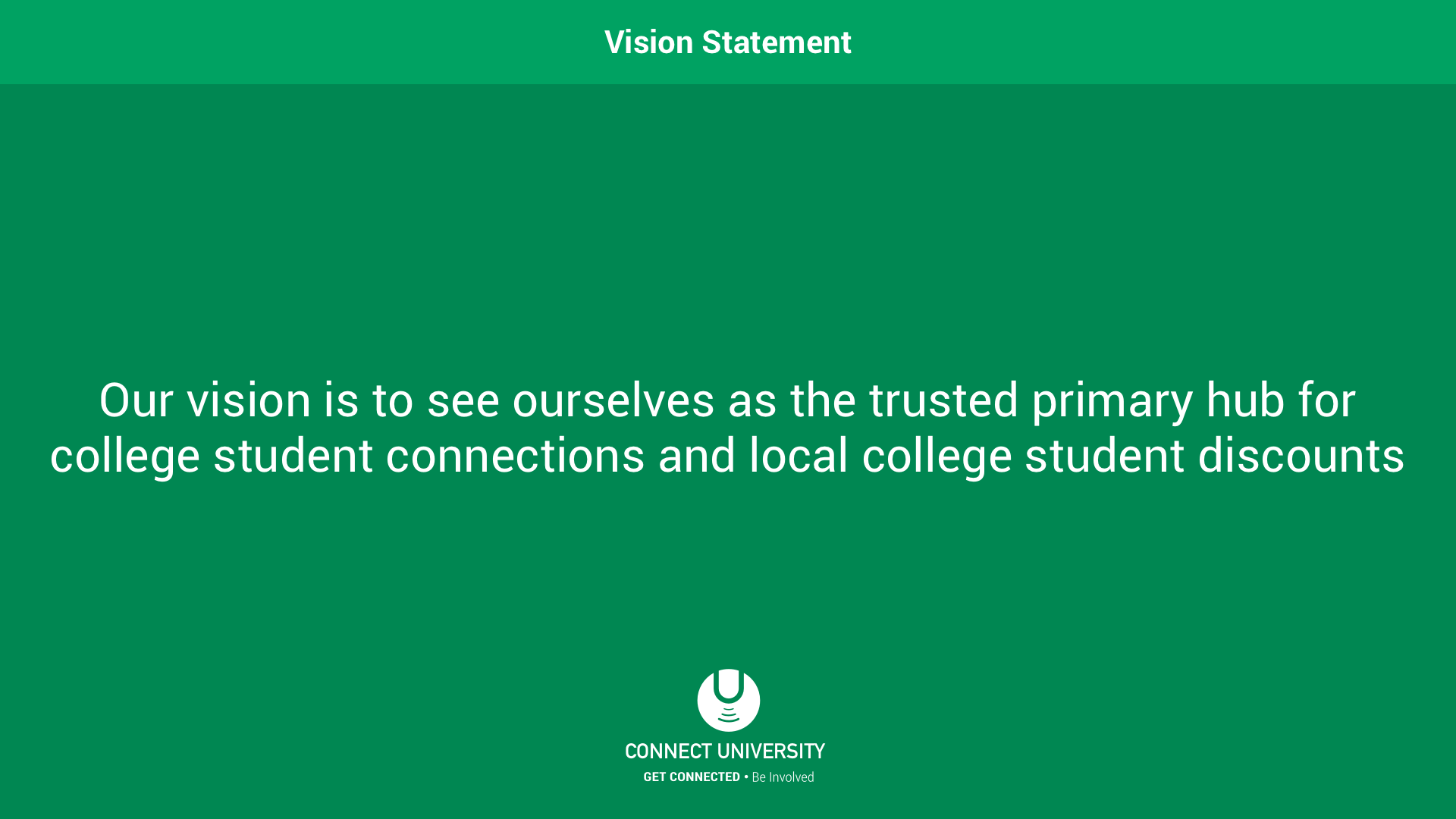 Connect University Vision Statement